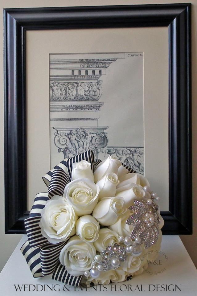 http://www.weddingandevents.co.uk/ #black #white #bouquets #flowers ...