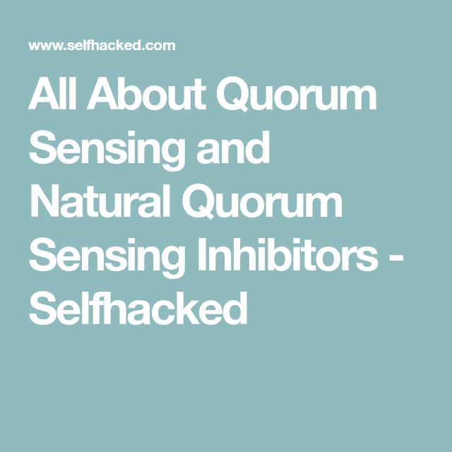 All About Quorum Sensing And Natural Quorum Sensing Inhibitors Selfhacked Quorum Senses How Are You Feeling