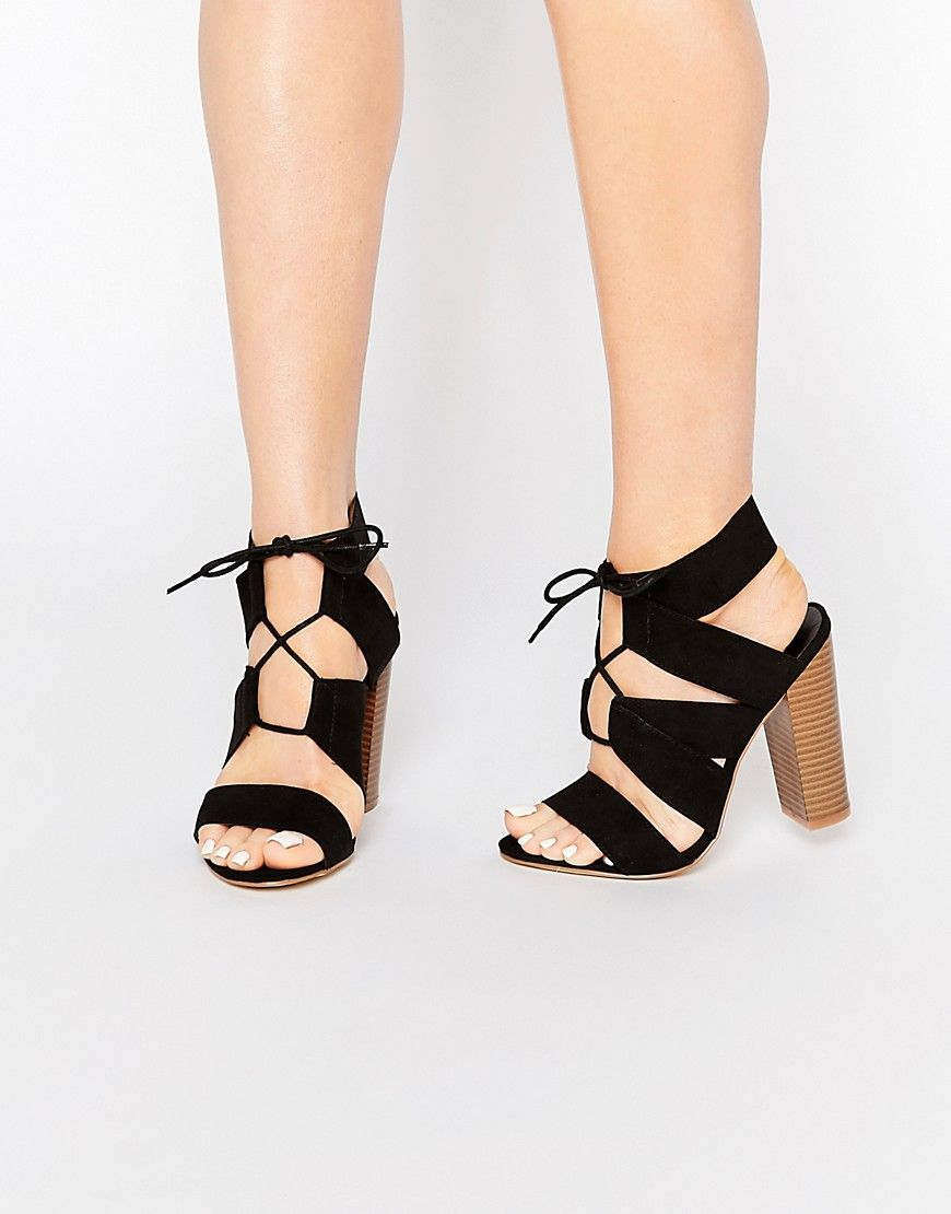 8736af7f199 Image 1 of New Look Lace Up Suedette Heeled Sandal