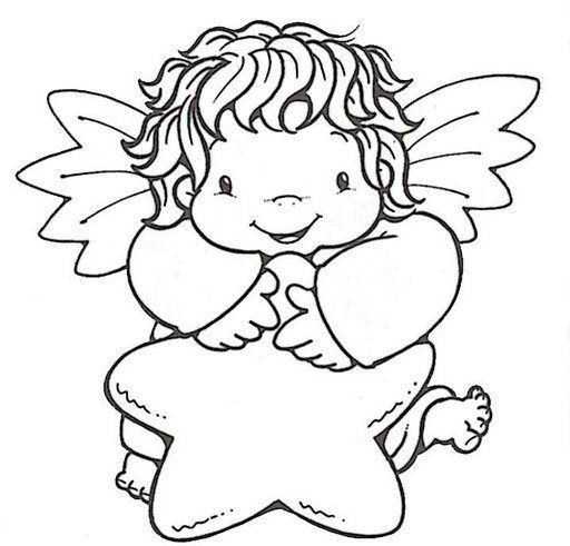 Dibujos Y Plantillas Para Imprimir Angelitos Paginas Para Colorear De Navidad Angeles Para Bautizo Paginas Para Colorear