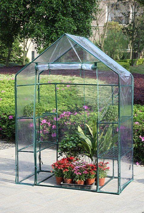 Exceptional New Clevr 6.5u0027 Portable 4 Shelves Walk In Greenhouse Outdoor 3 Tier Gr |  Crosslinks