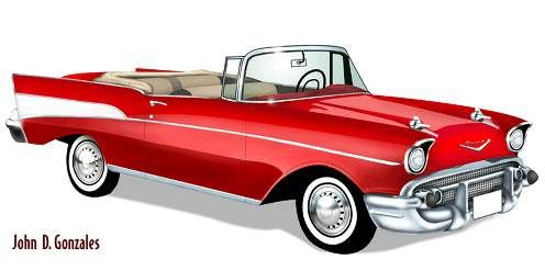 57 CHEVY AD   Coches (496 x 247 Pixel)