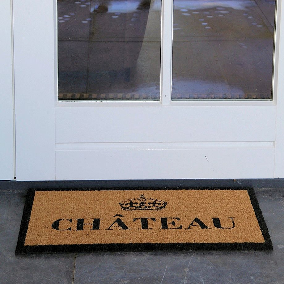 Coir multimat with text Chateau