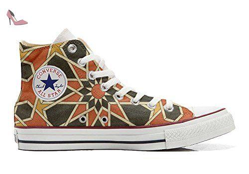 Converse All Star Hi chaussures coutume mixte adulte (produit artisanal) Fluo Pasley size 35 EU FNDFZDPKp