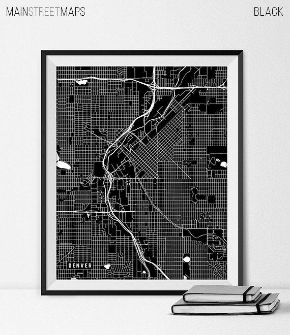Colorado Map Art.Denver Colorado State Map Art Print University Of Denver Art