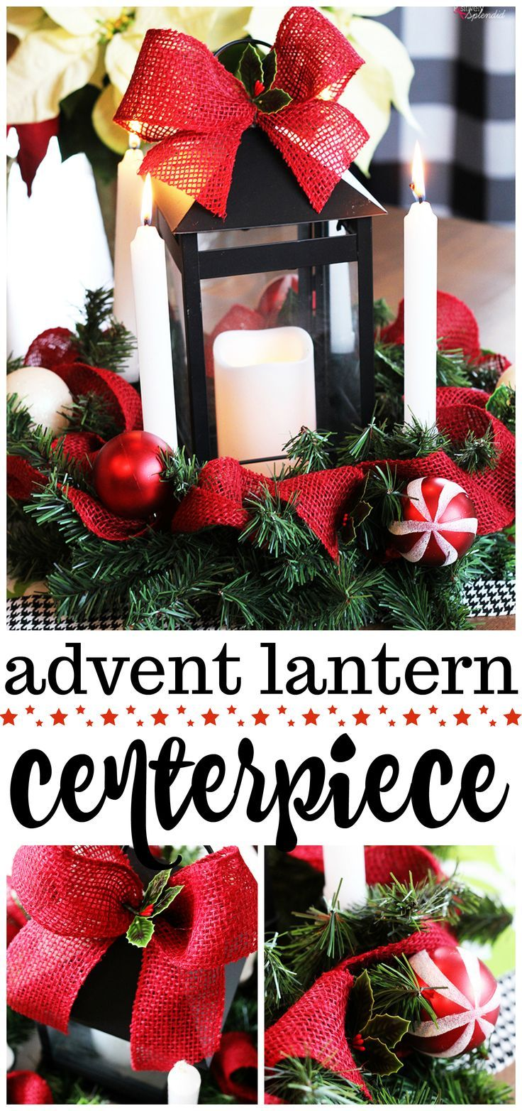 DIY Advent Wreath Centerpiece Handmade holiday decor