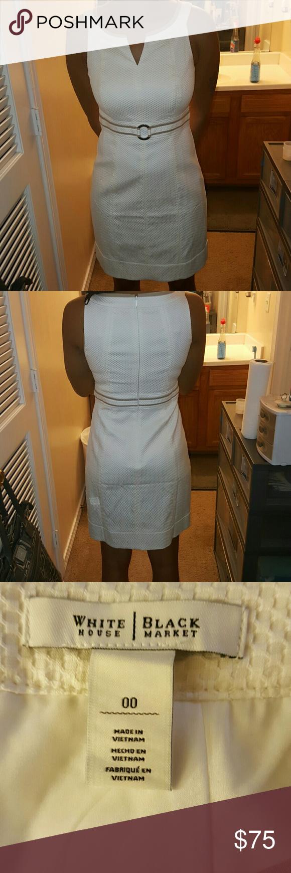 White house apron - White House Black Market White And Tan Dress Nwt