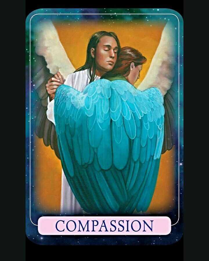 While you're cultivating compassion, please don't forget about yourself  Love and Blessings    ~Compassion card from Indigo Angel Oracle Cards by Doreen Virtue and Charles Virtue~