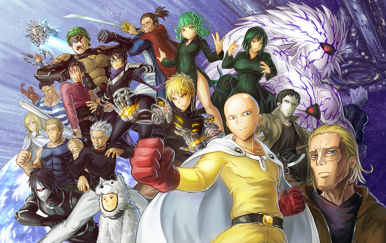 The Cast | One-Punch Man | One punch man anime, One punch man funny, One punch man king