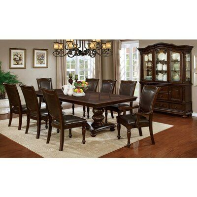 Alcott Hill Montcalm Traditional Solid Wood Dining Table ...
