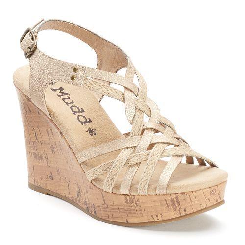 Mudd Women's Strappy Wedge Sandals
