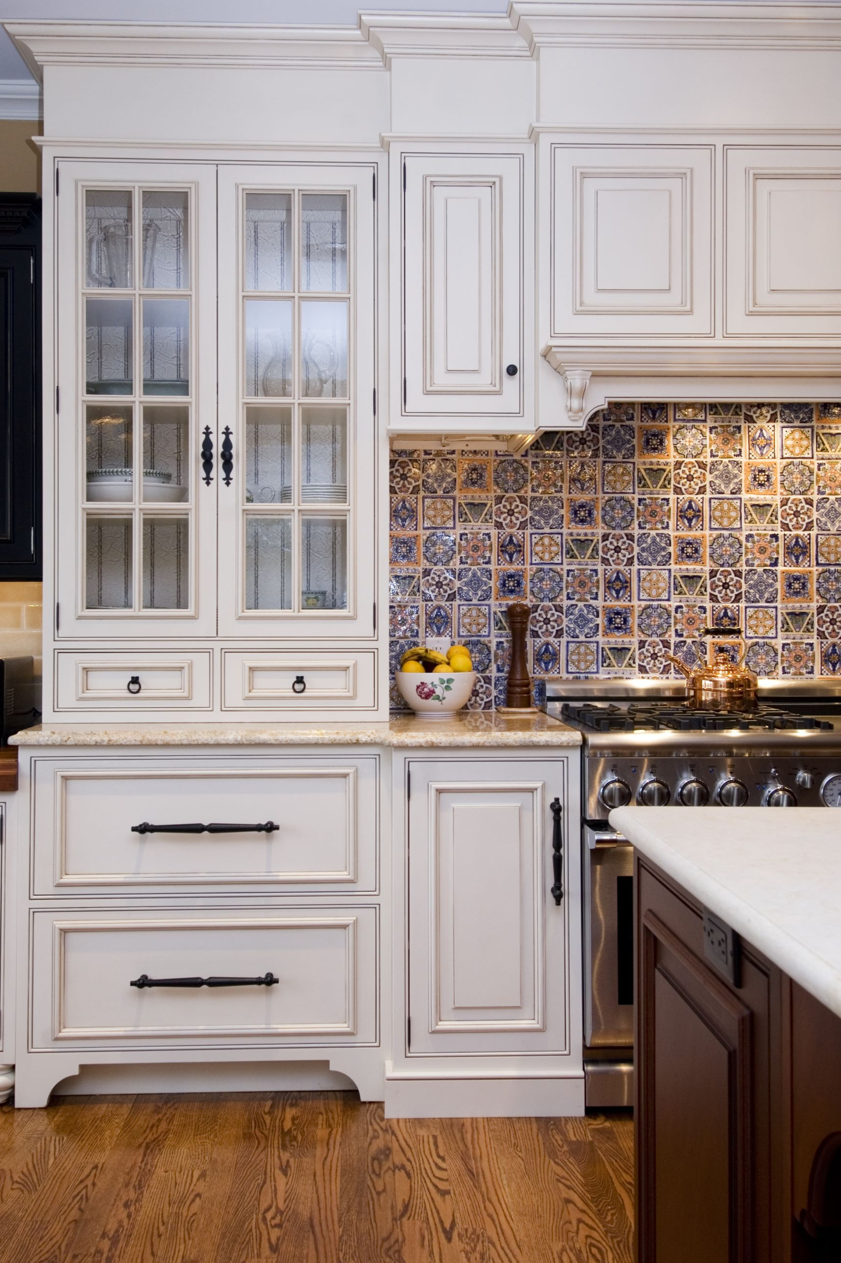 Traditional Kitchen with a touch of morrocan tile....