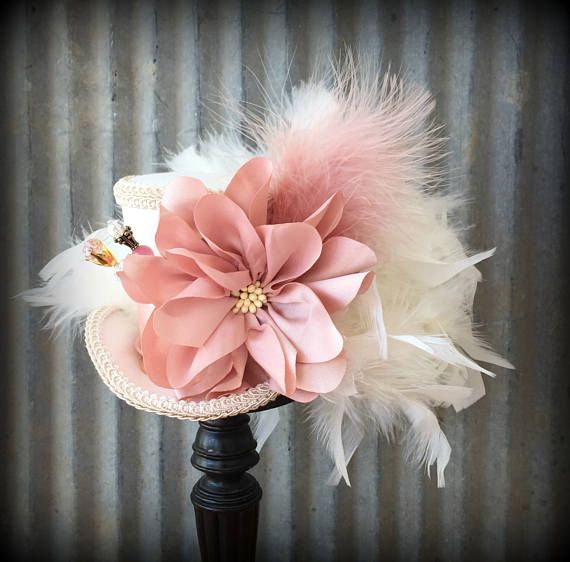 Mini Top hat Pink Blush hat Alice in Wonderland Mad Hatter | Crazy ...