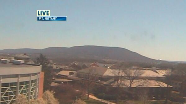 It's a chilly but beautiful one in Happy Valley! Check out this shot of Mt. Nittany.
