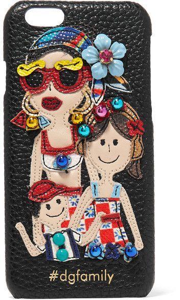 Embellished Appliquéd Textured-leather Iphone 7 Case - Black Dolce & Gabbana Cheap Sale Deals DIvJsMTBP