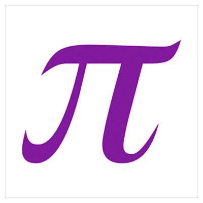 Purple Pi Symbol Poster Pi Symbol Symbols Symbol Design