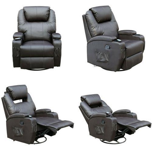 massage chair headrest cushion details about massage armchair leather adjustable headrest chair gaming nursing bodyrelaxbrown