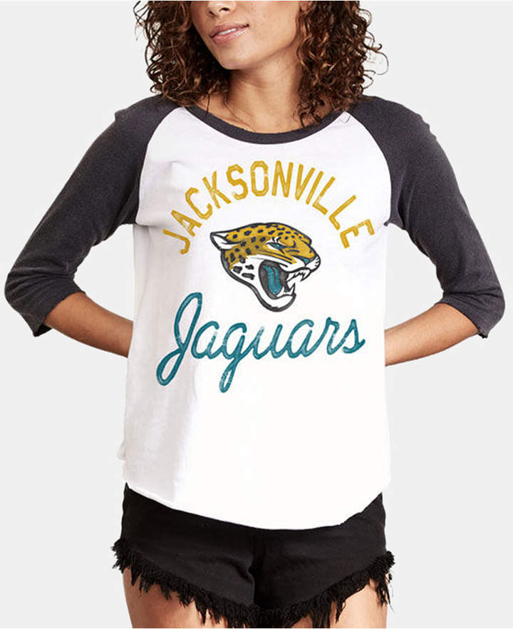 e8f42d95 Authentic Nfl Apparel Women Jacksonville Jaguars Raglan T-Shirt in ...