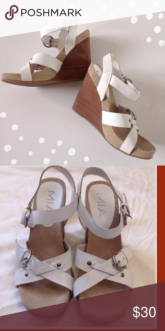"✂️ New Wedges 1/2"" platform 3 1/2 inch heel. Never worn. MIA Shoes"
