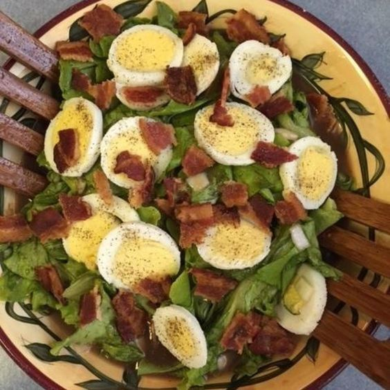 Grandma's Wilted Lettuce with Hot Bacon Dressing