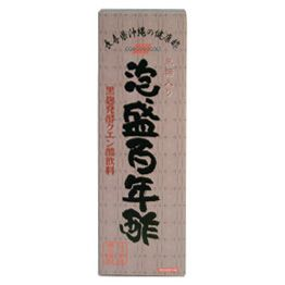 """""""Awamori hundred years vinegar"""" is to """"mash vinegar"""" rich in useful components, is black koji fermentation citric acid beverage easy to drink by the addition of Okinawa brown sugar."""