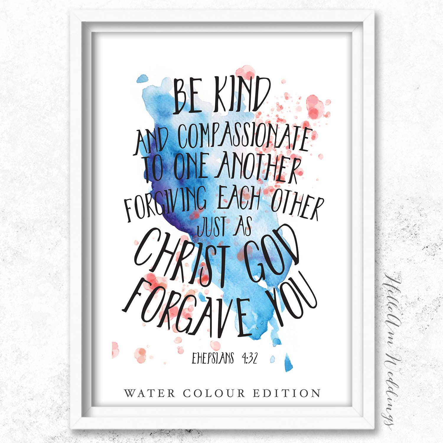 Custom Quote Prints Custom Printable Watercolour Designed Bible Quotes And Verses