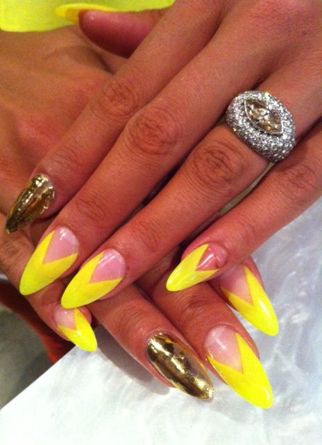 Stiletto nails...Not sure if these are a little ghetto.