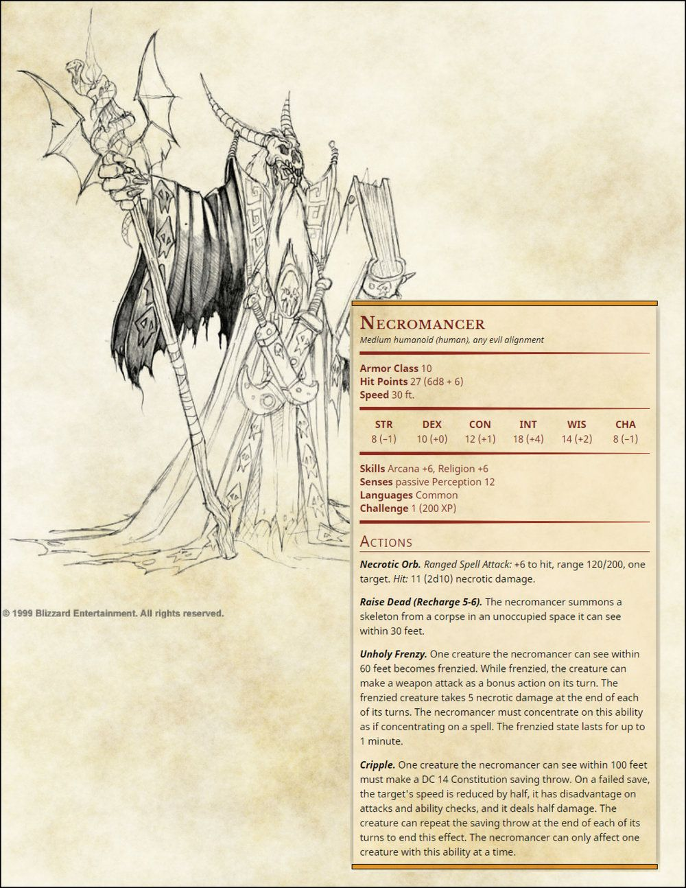 Necromancer | monsters | Dnd monsters, Dungeons, dragons homebrew