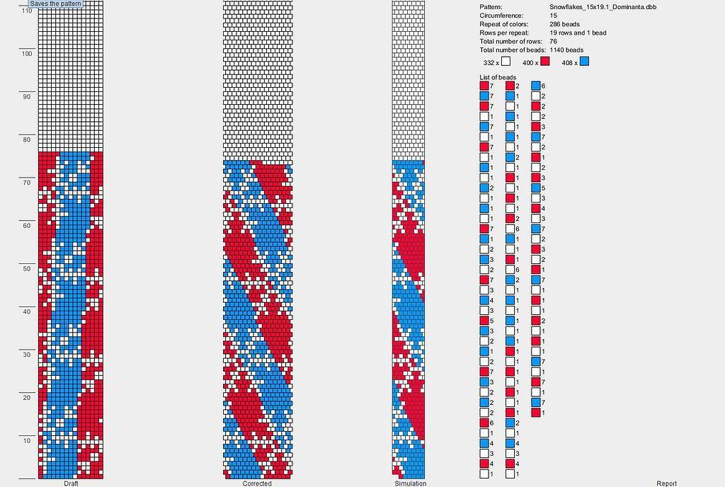 Схемы плетения бисером на станке плоских цветочных орнаментов