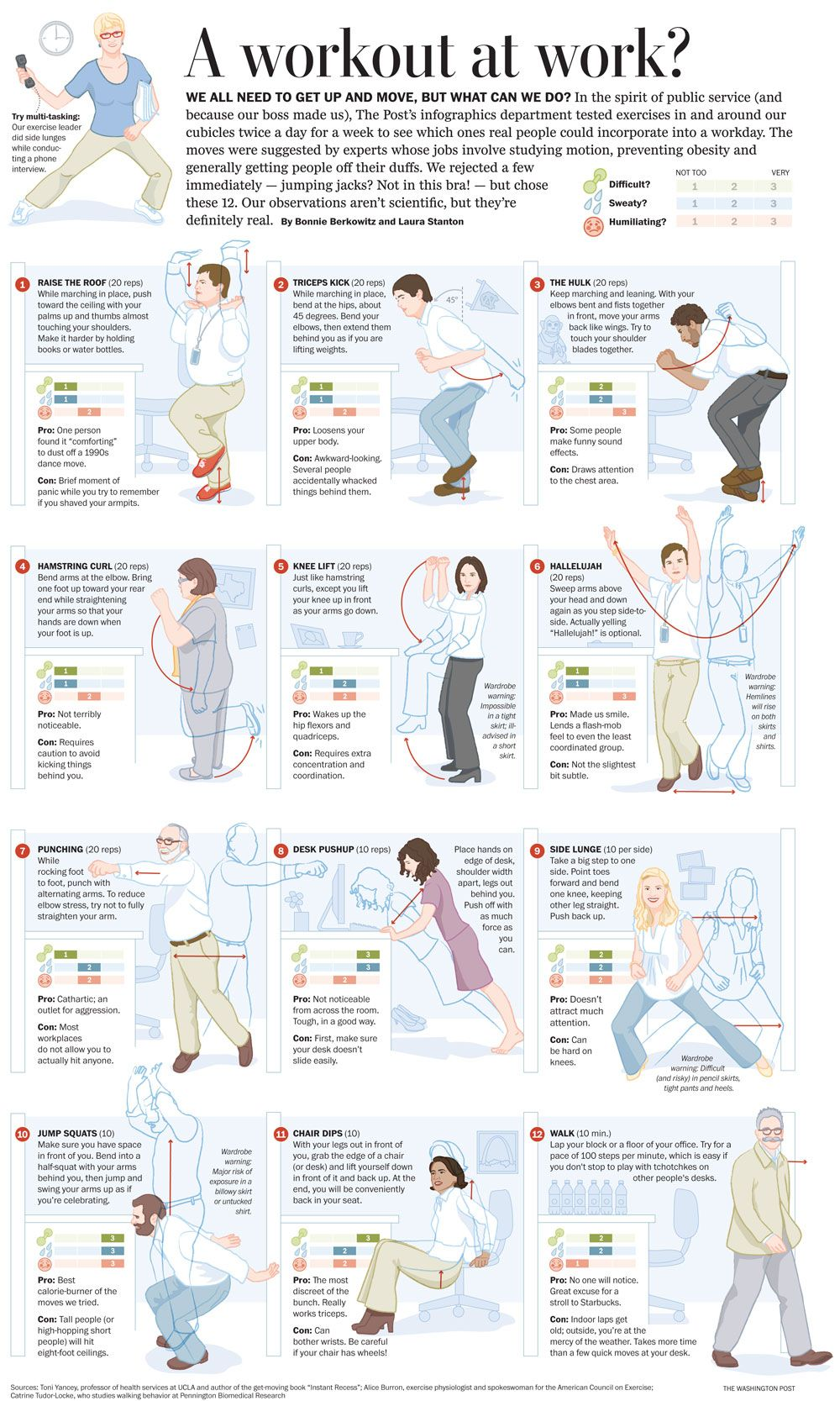 Some Real Exercises You Can Do At The Office I Saw This One When