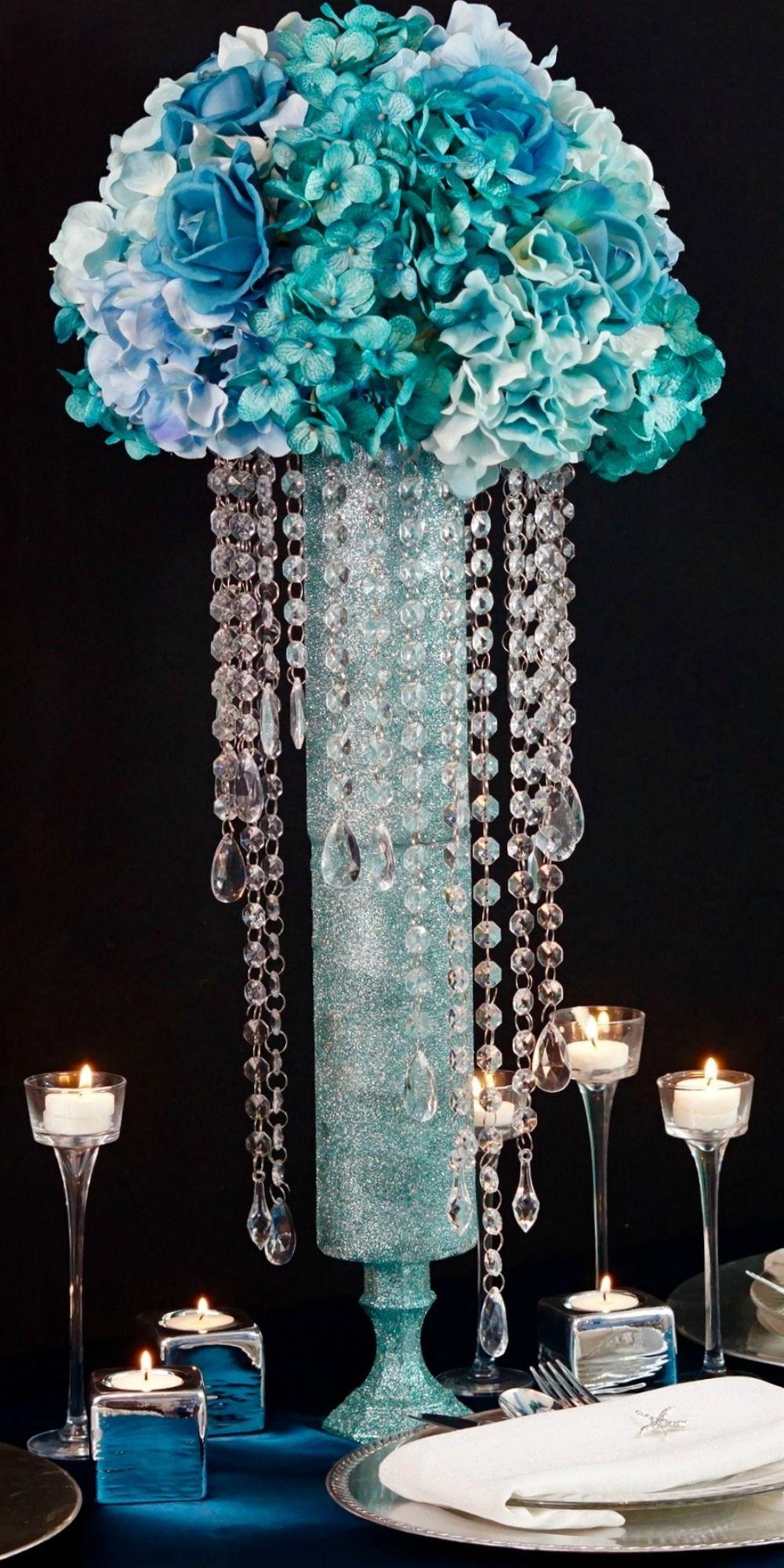 Blue DIY Wedding Centerpieces for Your Under the Sea Beach