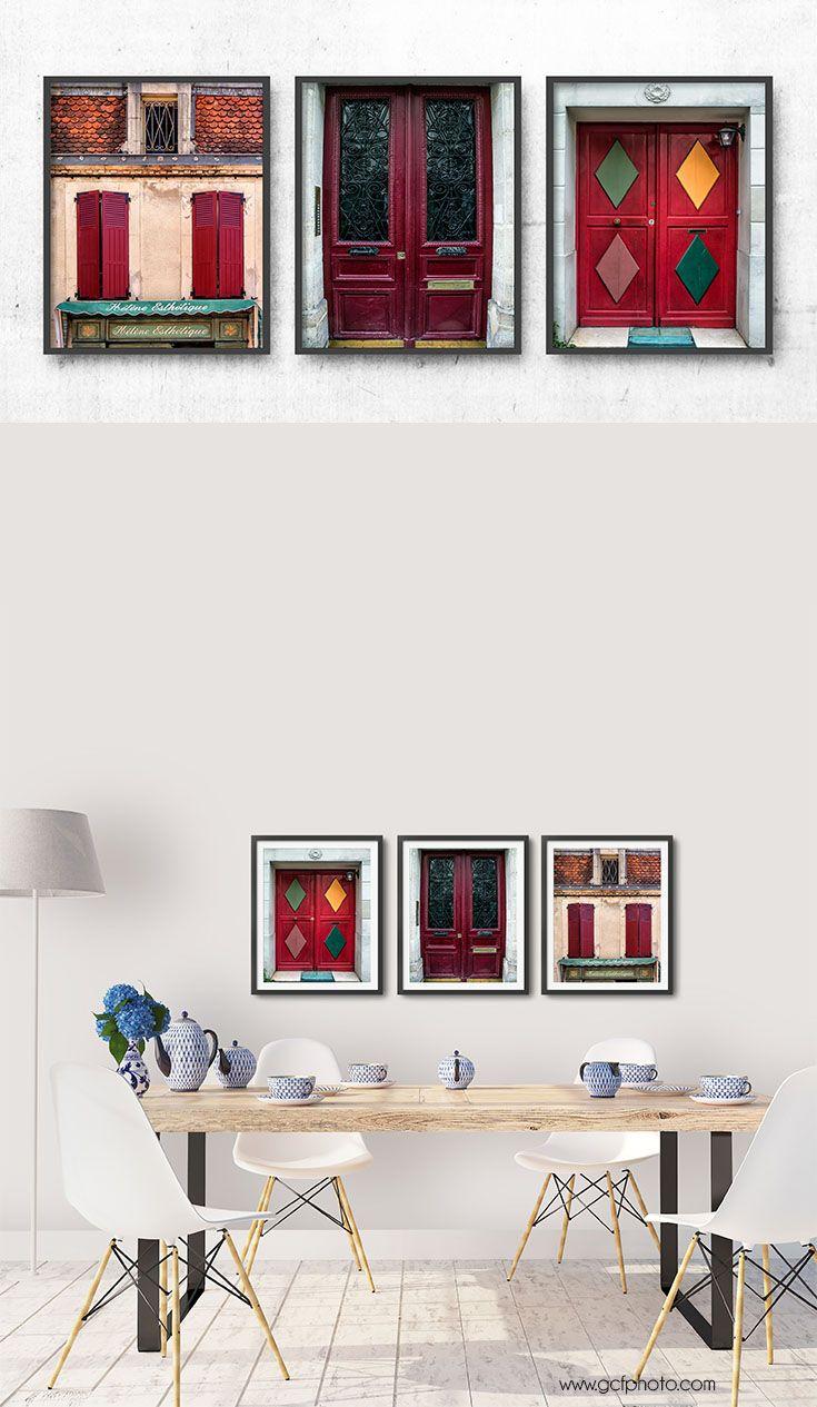 Doors And Windows Wall Art Prints Set 3 Photographs Door