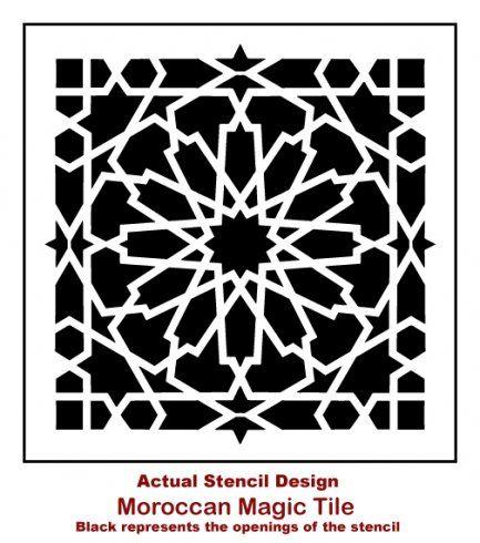 Moroccan Magic Tile Stencil Wall Stencil Designs Stenciled