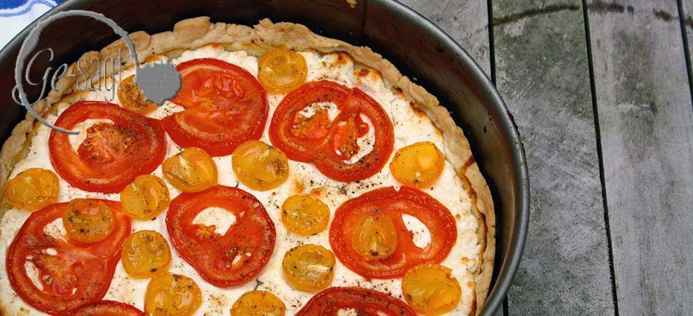 Ge-backen: Tomaten-Ziegenkäse-Tarte