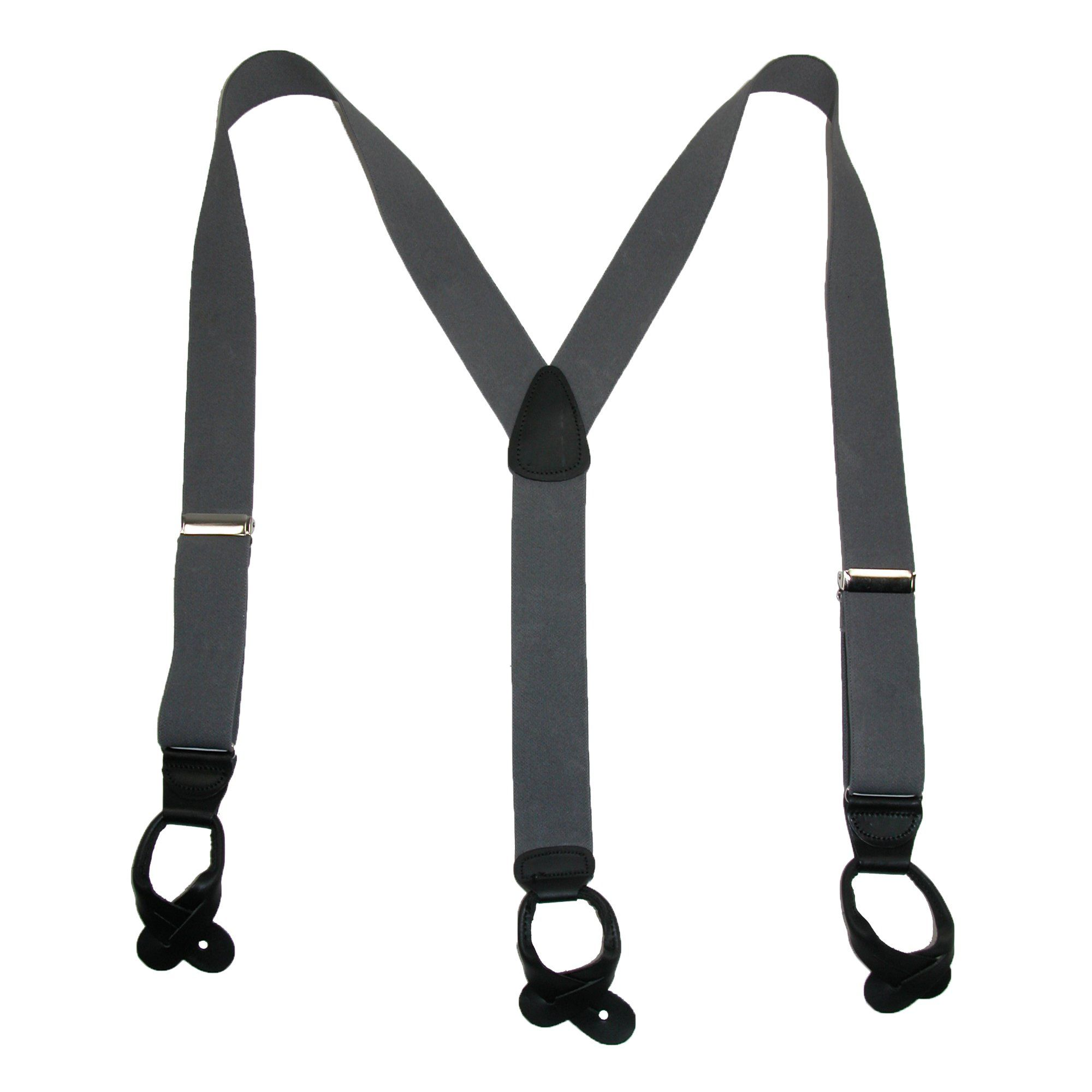 New Welch Men/'s Elastic Button End Double Face Suspenders