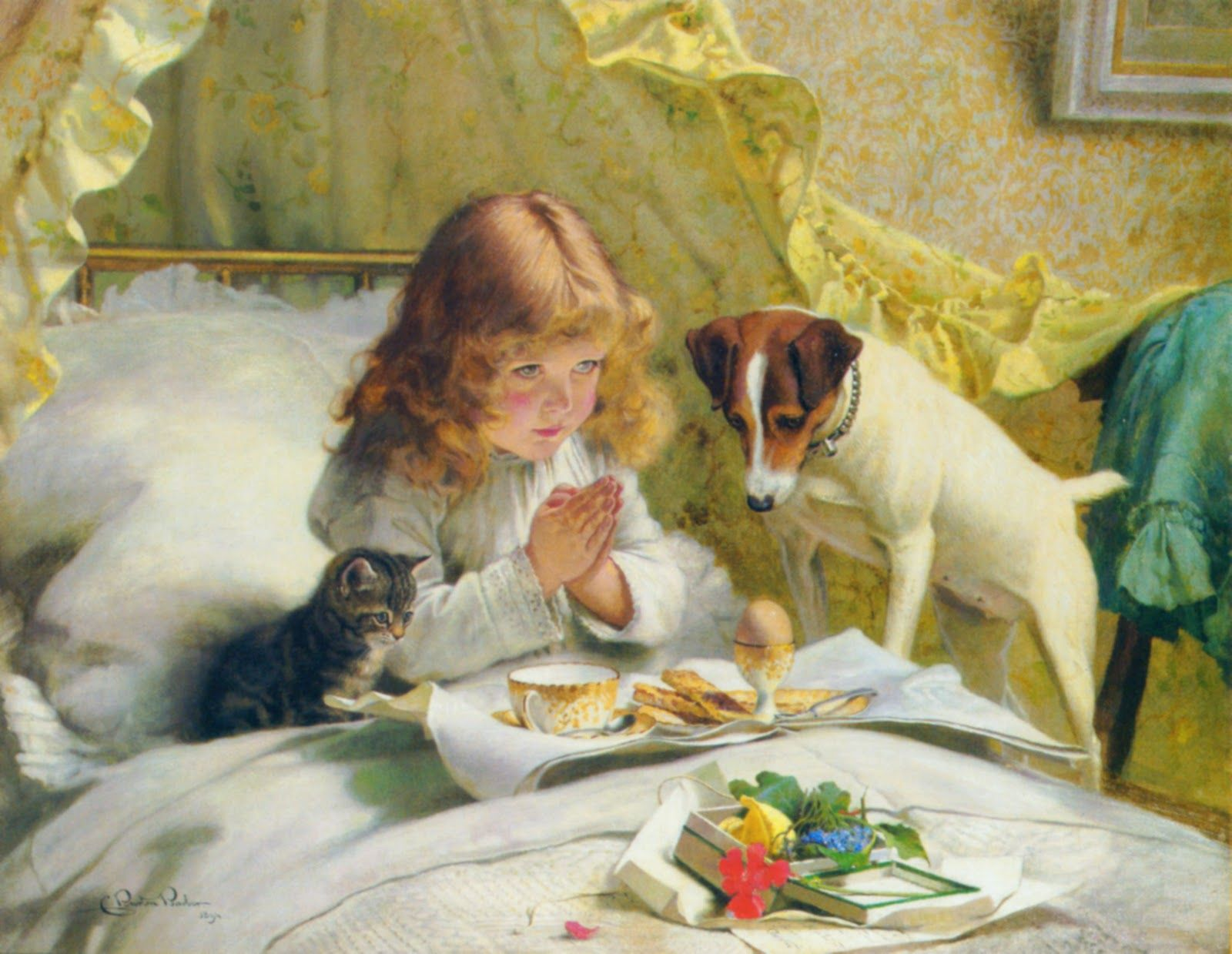 Suspense .1880 Charles Burton Barber Of Favorite Prints. Art And