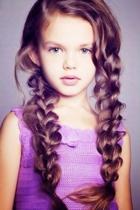 Super cute girl hair style