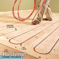 Choosing The Right In Floor Heat Excellent Radiant Floor Heating - Bath floor heating systems