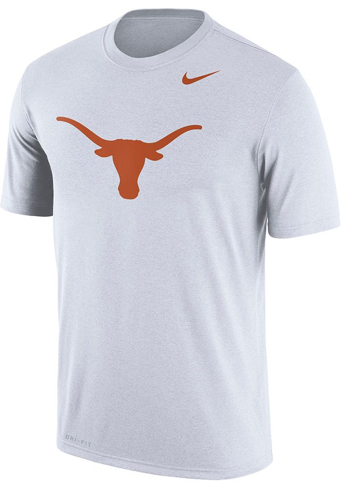 the best attitude 561fa 6ff64 Nike Texas Longhorns White Logo Legend Short Sleeve T Shirt, White, 100%  POLYESTER, Size 2XL