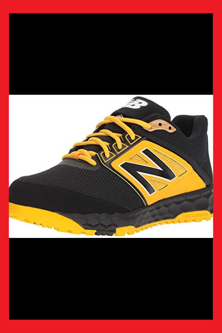 New Balance Men S 3000v4 Turf Baseball Shoe Black Yellow 9 D Us Color Baseball Shoes Black Shoes New Balance Men