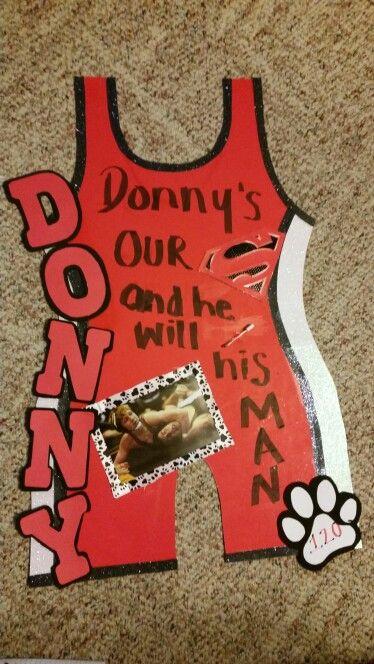 Wrestling Room Design: Locker Banner For High School District Wrestling Week