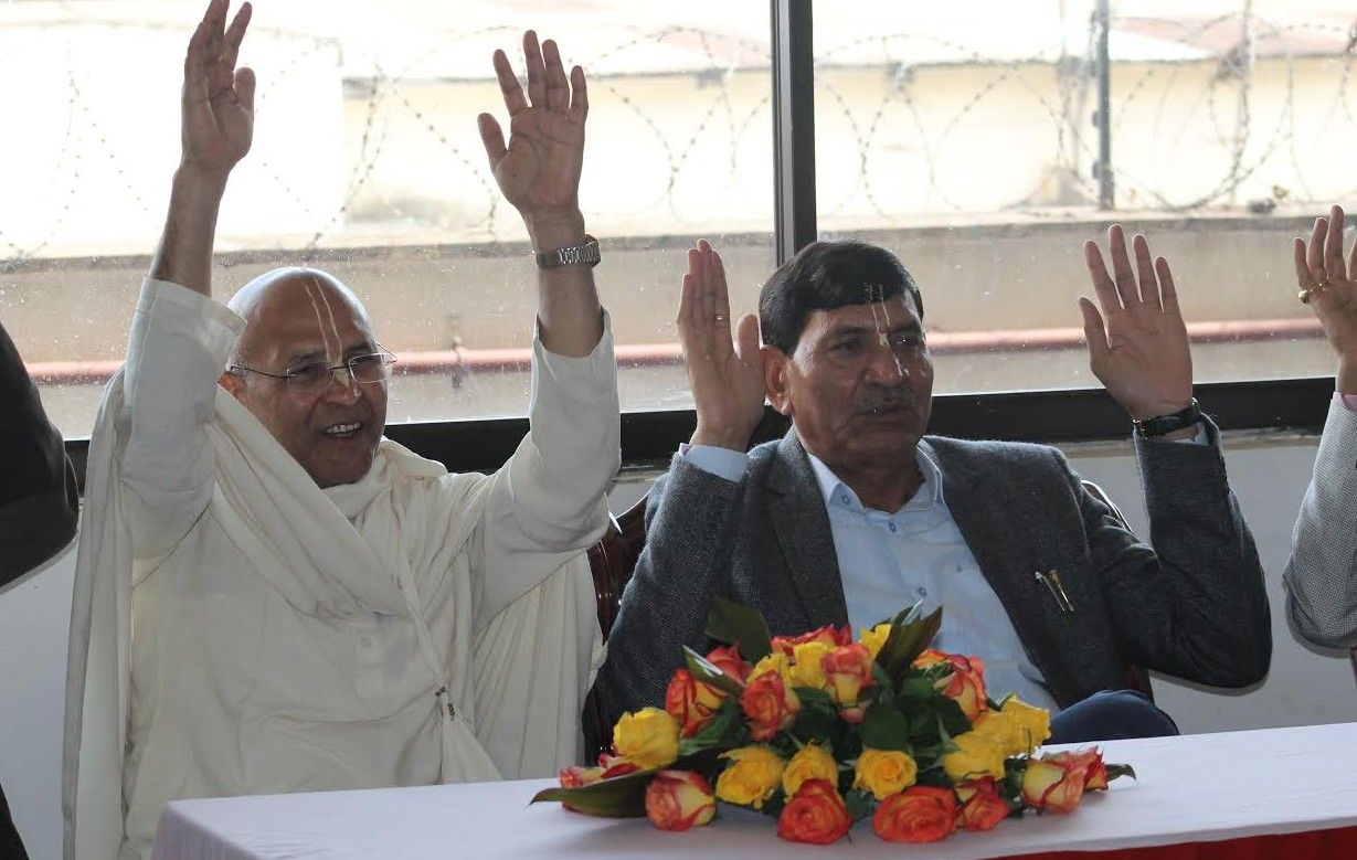 Dandavats   Agriculture minister of India visits ISKCON Nairobi