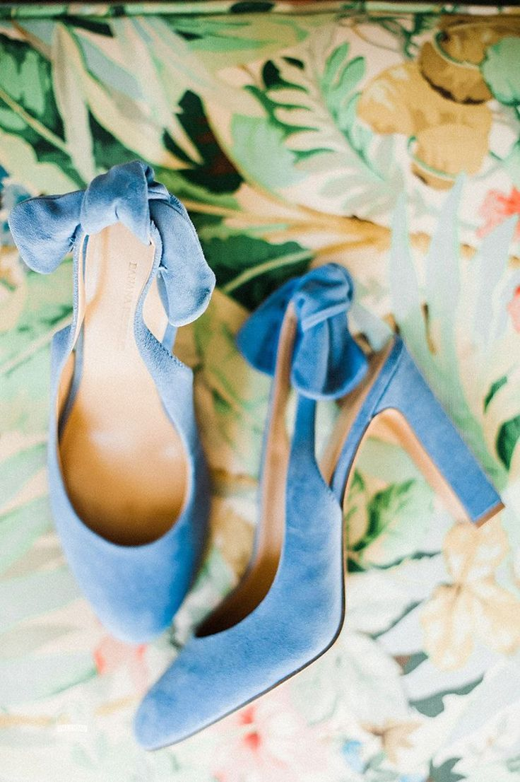 Blue Suede Bridal Wedding Shoes: Modern Garden Inspired Wedding at the Pittsburgh Golf Club from Palermo Photography featured on Burgh Brides. Find more inspiration at burghbrides.com! #weddingshoes #blueweddingshoes #velvetweddingshoes