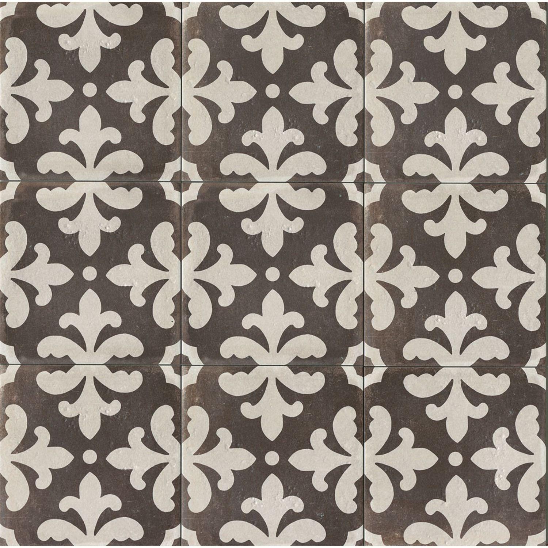 Palazzo 12 X 12 Decorative Tile In Castle Graphite Florentina Best Bathroom Flooring Decorative Tile Encaustic Tile