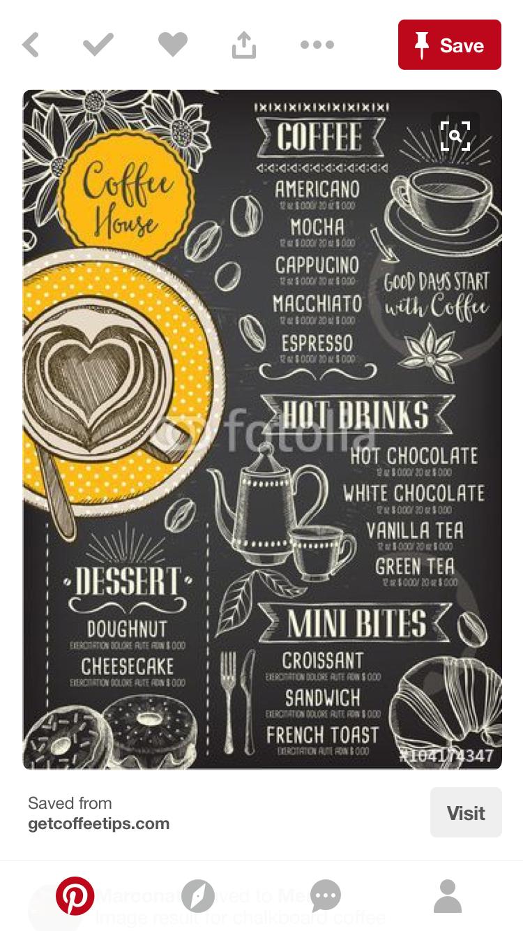 Pin By Kisskris Dizajn On Crtezi Slike Slova Coffee Shop Menu