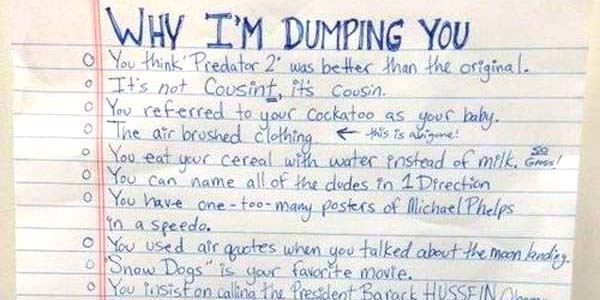 The  Best And Worst Breakup Letters WeVe Seen Ouch  Decor Ideas