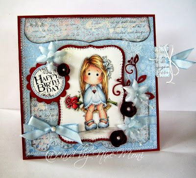 Moni´s creative place....Great inspiration for using Red as a card base!