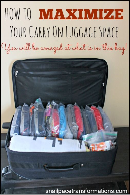 How To Maximize Carry On Luggage Space Thrifty Thursday