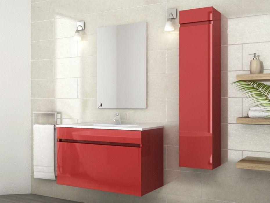 Ensemble KAHI - meubles de salle de bain - Laqué rouge Rénovations
