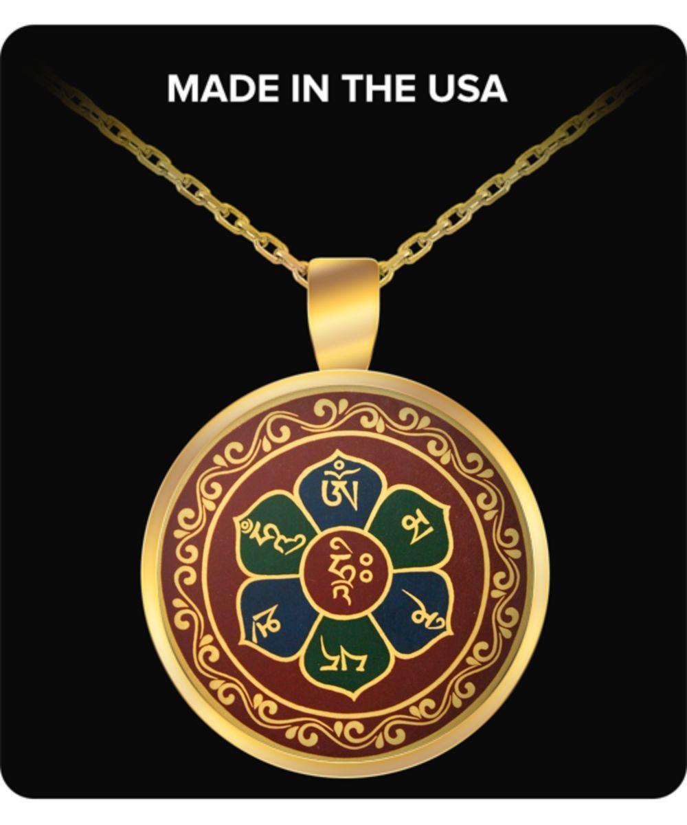 Buddha necklace pendant charm with buddhist mantra in sanskrit buddha necklace pendant charm with buddhist mantra in sanskrit om mani padme hum tibetan symbol biocorpaavc Image collections